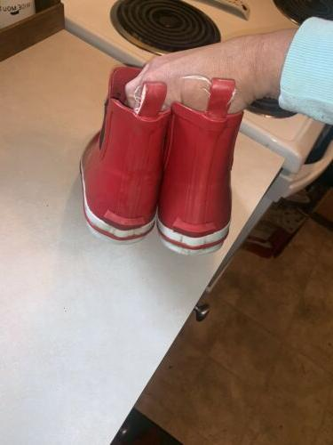 Kamik Red Rainboots Size 7 Ankle Boots