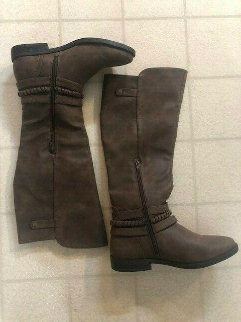RAMPAGE WOMENS M BROWN RIDING BOOTS Style WS127A