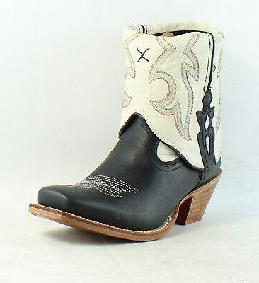Twisted Out Cuff Leather Western Ankle