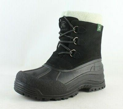 womens tracy black snow boots size 10