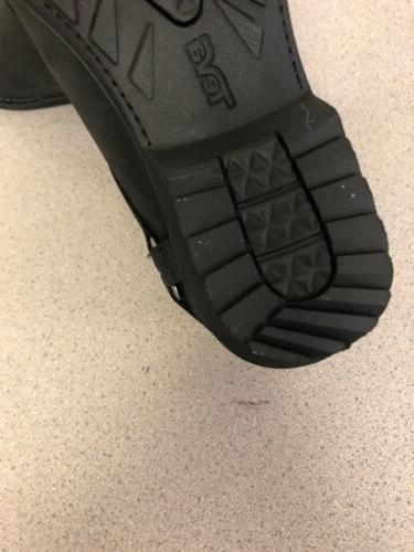Teva Womens Waterproof Leather Chelsea Black 7