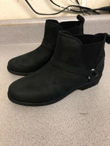 Teva Womens Waterproof Leather Chelsea Boots 7