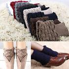Womens Winter Crochet Boot Cuffs Knitted Toppers Boots Socks