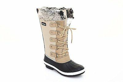 Sand Storm Womens Winter Snow Boots Tall - Insulated Lace-up