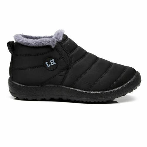 Womens Winter Boots Warm Lined Booties Waterproof Shoes