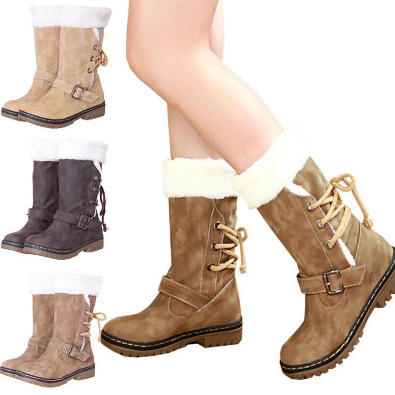 Womens Winter Fur Casual Calf Shoe