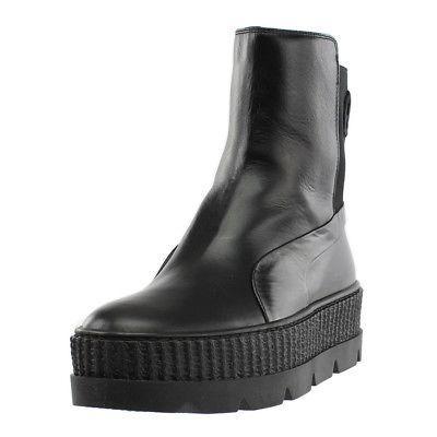 fenty by rihanna chelsea sneaker boots black