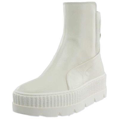 fenty by rihanna chelsea sneaker boots white