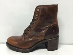 Frye Boots Lace Up Boot Cognac Women's Size 7.5