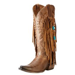 Ariat® Ladies Brisco Fringe & Beads Dusted Wheat Brown Boot