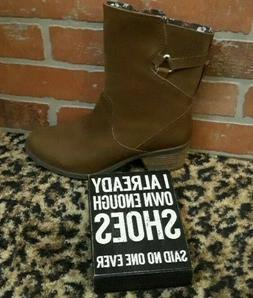 Teva Ladies  Foxy Mid Calf Boots Brown Nubuck Leather Side Z