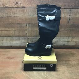 Top moda land-3 womens black mid-calf riding boots NIB