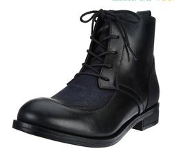 FLY London Leather Lace-up Ankle Boots Arty Black Women's Bo