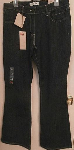 Levi's 518 Womens Boot Cut, Relaxed fit, Low Rise Denim Blue
