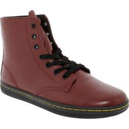Dr. Martens Women's Leyton Oxblood Ankle-High Leather Boot -