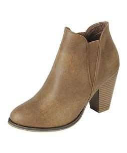 Forever Link Women's Camila -17 Ankle Boots Tan Size US 8