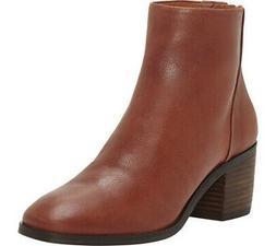 Lucky Brand Women's LK Magine Rye leather Stacked Heel Chic