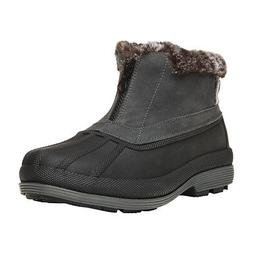 Propet Lumi Ankle Zip Boots - Grey - Womens