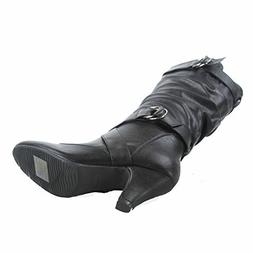 Forever Link Maggie-39 Women's Fashion Low Heel Zipper Slouc