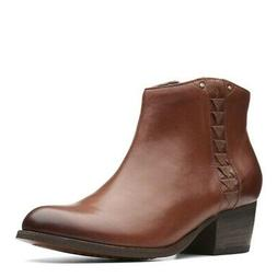 Clarks Maypearl Fawn  Boots Leather Womens Ankle Boots