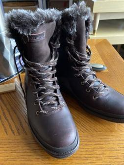 Merrell Women's Moab Mid Waterproof Hiking Boot,Grey/Periwin