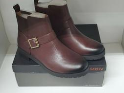 Vionic Mystic Mara CHOCOLATE BROWN  Leather  Ankle Boots Wom