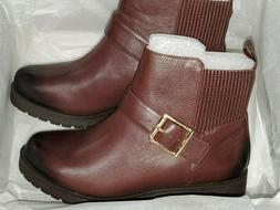 """Vionic """"Mystic Mara"""" CHOCOLATE BROWN  Leather  Ankle Boots W"""
