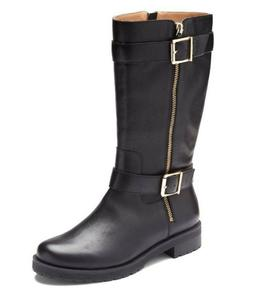 Vionic Orthaheel MYSTIC MARLOW Leather Supportive Boots BLAC