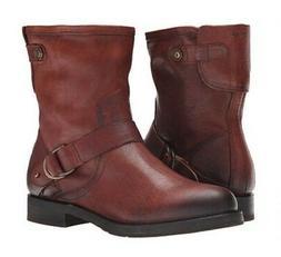 OluKai Nahuku Shorts Brown Leather Moto Ankle Boots Women's