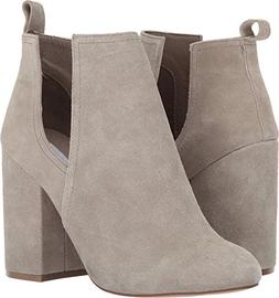 Steve Madden Women's Naomi Ankle Bootie, Taupe Suede,10 M US
