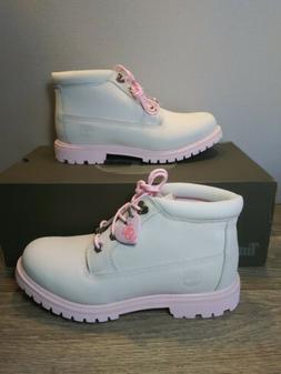 Timberland Nellie Chukka Boots Womens White Valentine A28H7