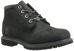 Timberland Women's Nellie Double WP Ankle Boot,Black,8.5 M U
