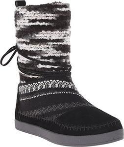 Toms Nepal Boots Black Suede Textile Mix 10006219 Womens 11
