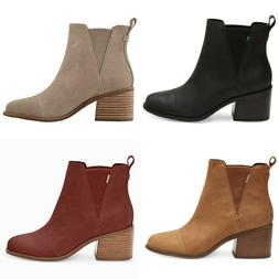 NEW AUTHENTIC TOMS WOMEN'S  ESME ROUND TOE ANKLE BOOTS - US