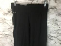 NEW SPALDING Boot Cut pant Small Black Pullon knit PANTS Leg