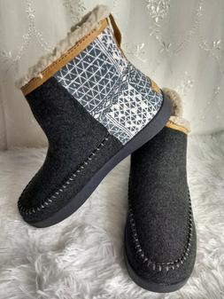 NEW! Sanuk Casual Boots Womens 9 Nice Bootah Ojai Ankle Gray