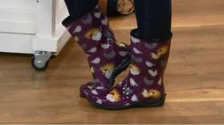 NEW Sloggers Chickens & Suns Garden Rain Boots Waterproof Eg
