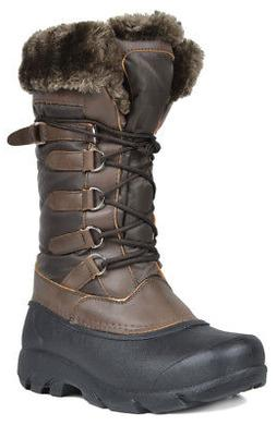 DREAM PAIRS New Comfy Women's Faux Fur Lined Mid Calf Winter