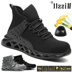 New Cushioned Safety Shoes Steel Toe Mens Womens Work Boots