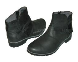 new delavina ankle distressed leather boots black