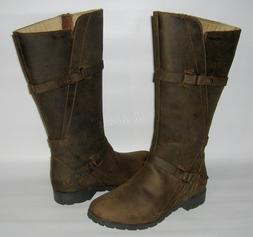 NEW TEVA DELAVINA WATERPROOF LEATHER BOOTS BROWN DE LA VINA