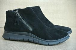 NEW Vionic Dylan Womens Sz 8.5 M Black Suede Side Zip Comfor