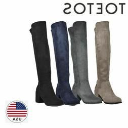 TOETOS Womens PRADE-01 New Fashion Pull On Over The Knee Mid
