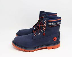 NEW Timberland Icon 6 inch Navy Logo Women's Boots Blue Si
