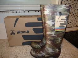 New in Box Kamik Women's Squad Rain Boots Camo Camouflage Ma