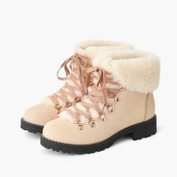 NEW IN BOX Women's J.Crew Nordic boots Lace Up Snow Boot Nub