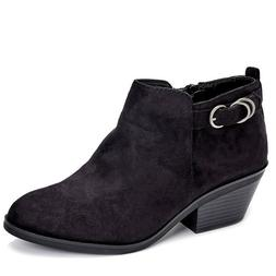 New Life Stride Faux Suede Black Boots for Women Size 6.5