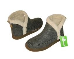 NEW SANUK NICE BOOTAH FAUX FUR ANKLE BOOTS GRAY WOMENS 9.5