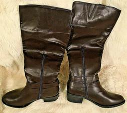 NEW Rampage Ram-Ingred Wide Calf Riding Boot - Women's Size