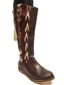 New Reef Santa Marta Embroidered Tribal Tall Riding Boots Wo